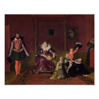 Henri IV  King of France and Navarre Playing Poster
