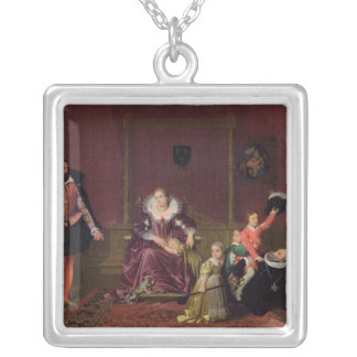 Henri IV  King of France and Navarre Playing Silver Plated Necklace