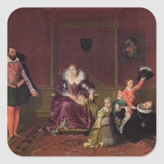Henri IV  King of France and Navarre Playing Square Sticker