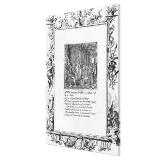 Henri IV  King of France and Navarre teaching Canvas Print