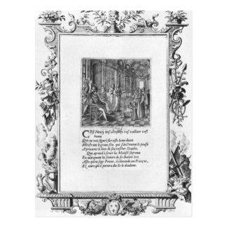 Henri IV  King of France and Navarre teaching Postcard
