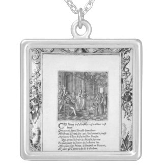 Henri IV  King of France and Navarre teaching Silver Plated Necklace