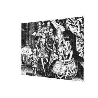 Henri IV  King of France with his Family Canvas Print