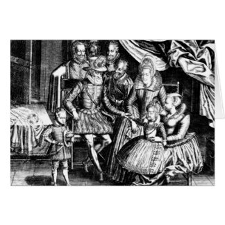 Henri IV  King of France with his Family Card