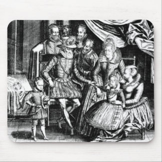 Henri IV  King of France with his Family Mouse Pad
