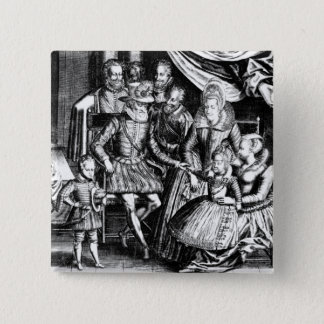 Henri IV  King of France with his Family Pinback Button