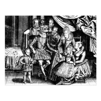 Henri IV  King of France with his Family Postcard