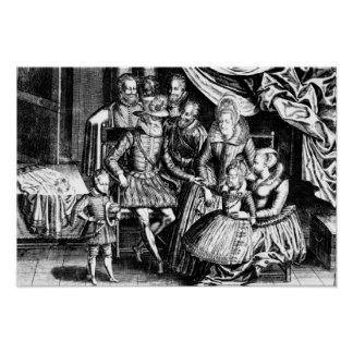 Henri IV  King of France with his Family Poster