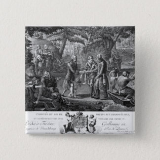 Henri IV  reconciling Frederick William II Button
