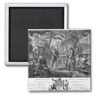 Henri IV  reconciling Frederick William II 2 Inch Square Magnet