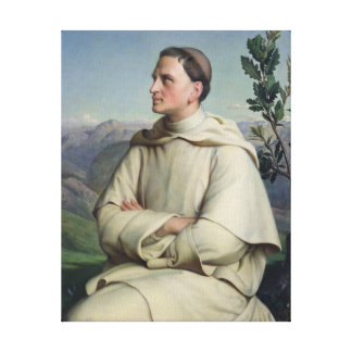 Henri Lacordaire  at Sorreze, 1847 Canvas Print