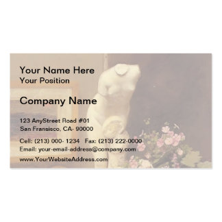 Henri Latour- Still Life with Torso and Flowers Business Card Template