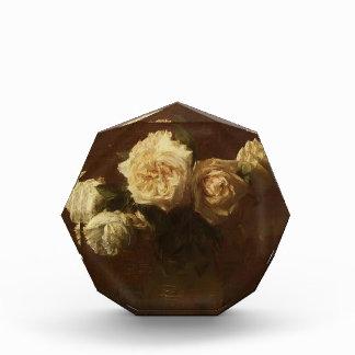 Henri Latour- Yellow Pink Roses in a Glass Vase Acrylic Award