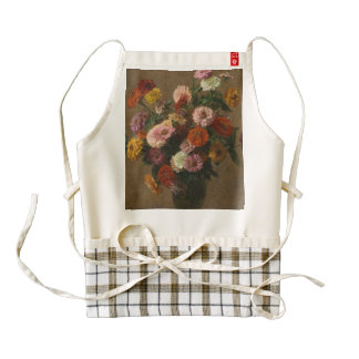 Henri Latour - Zinnias Zazzle HEART Apron