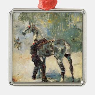 Henri Lautrec- Artilleryman Saddling His Horse Ornament