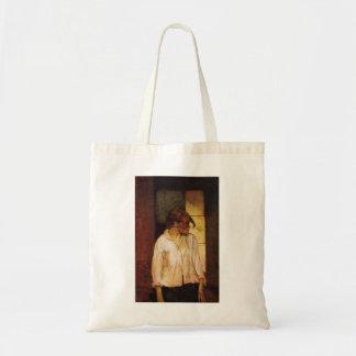 Henri -Lautrec- At Montrouge ( Rosa la Rouge) Budget Tote Bag