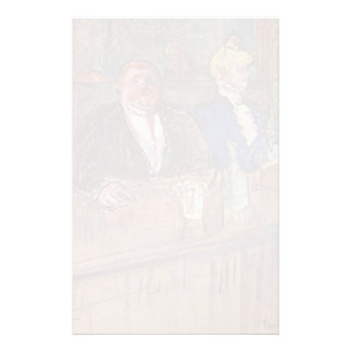 Henri Lautrec-At the,Cafe Customer&Anemic Cashier Personalized Stationery