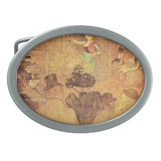 Henri -Lautrec- Booth of La Goulue Oval Belt Buckles
