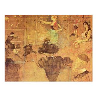 Henri -Lautrec- Booth of La Goulue Postcard