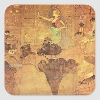 Henri -Lautrec- Booth of La Goulue Stickers