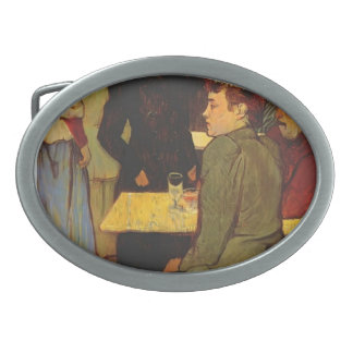 Henri Lautrec- Corner in the Moulin de la Galette Oval Belt Buckle