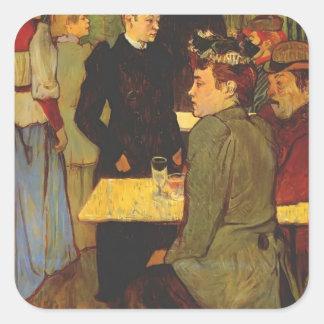 Henri Lautrec- Corner in the Moulin de la Galette Square Stickers