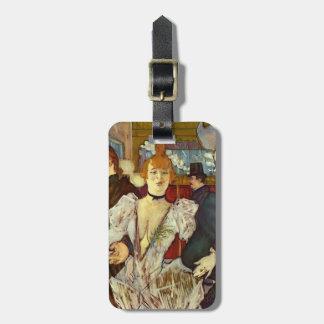 Henri -Lautrec- La Goulue Arriving at Rouge Luggage Tags