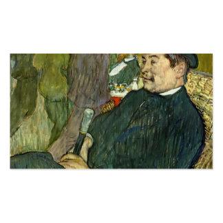 Henri Lautrec- M. Delaporte at the Jardin de Paris Double-Sided Standard Business Cards (Pack Of 100)