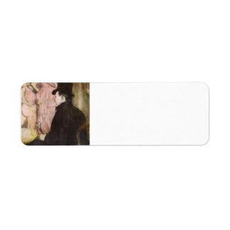 Henri Lautrec- Maxime Dethomas At Ball of Opera Custom Return Address Labels