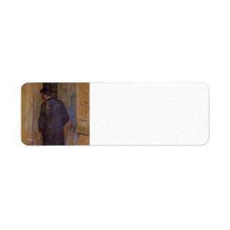 Henri Lautrec- Monsieur Louis Pascal from the Rear Custom Return Address Label