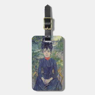 Henri -Lautrec- Seated Woman in the Garden Luggage Tag