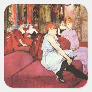 Henri Lautrec: The Salon de la Rue des Moulins Square Sticker