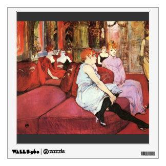 Henri Lautrec: The Salon de la Rue des Moulins Wall Sticker