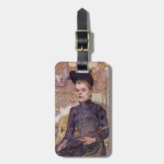 Henri Lautrec- Woman in a Black Hat Travel Bag Tag