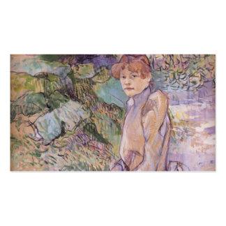 Henri Lautrec- Woman in Monsieur Forest s Garden Business Card Templates