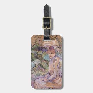 Henri Lautrec- Woman in Monsieur Forest s Garden Travel Bag Tag