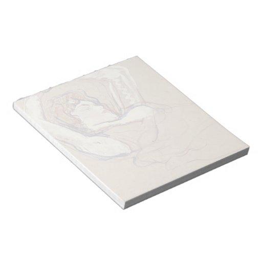 Henri Lautrec- Woman Lying on Her Back Notepad