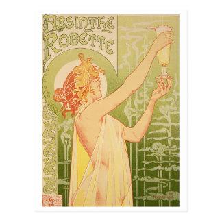 Henri Privat-Livemont Absinthe Robette Art Nouveau Postcard