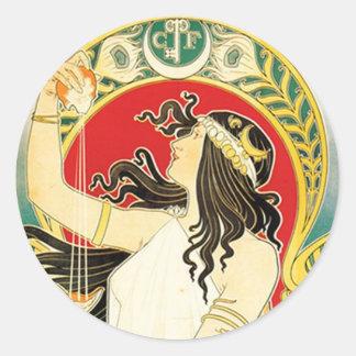Henri Privat~Livemont ~ Art Nouveau Classic Round Sticker