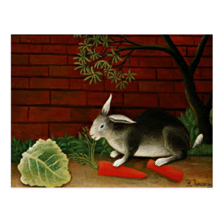 Henri Rousseau art: Rabbit Postcard