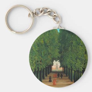 Henri Rousseau, Avenue in the Park at Saint Cloud Keychain