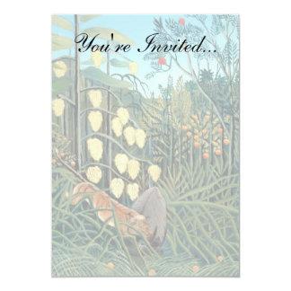 Henri Rousseau - Battling Tiger and Buffalo Card