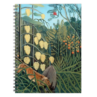 Henri Rousseau - Battling Tiger and Buffalo Notebook