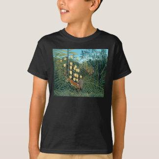 Henri Rousseau - Battling Tiger and Buffalo T-Shirt