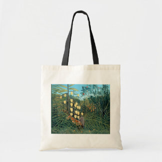 Henri Rousseau - Battling Tiger and Buffalo Tote Bag