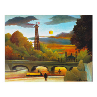 Henri Rousseau Eiffel Tower at Sunset Postcard