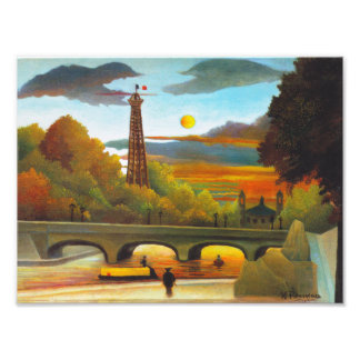 Henri Rousseau Eiffel Tower at Sunset Print Photo Print