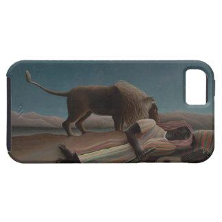 Henri Rousseau - el gitano durmiente iPhone 5 Carcasas