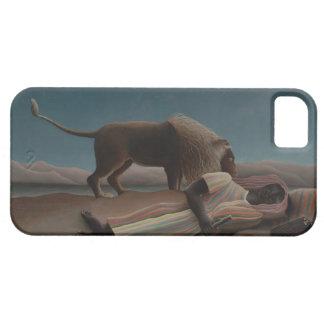 Henri Rousseau - el gitano durmiente iPhone 5 Case-Mate Funda