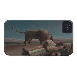 Henri Rousseau - el gitano durmiente Case-Mate iPhone 4 Carcasas